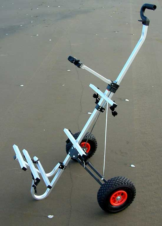 Beach fishing carts aluminium folding beach utility cart for Folding fishing cart